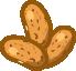 Jud�as, romanas, semillas maduras, cocinadas, hervidas, con sal